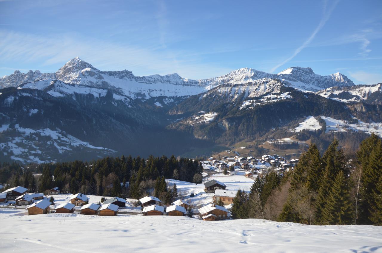 Vue piste de ski